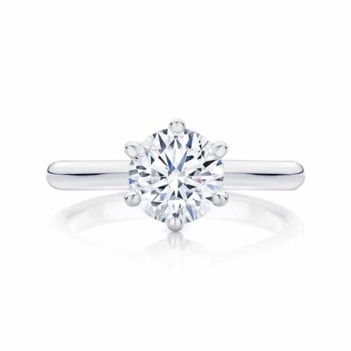Round Solitaire Engagement Ring Platinum | Elegance