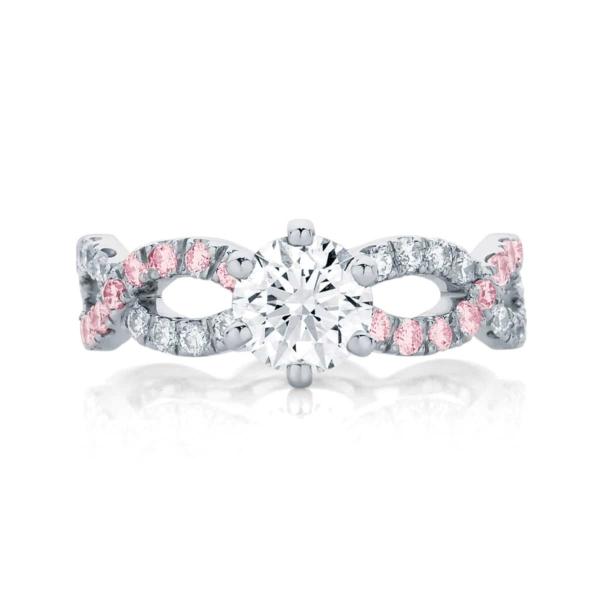 Gemstones Engagement Ring White Gold | Entwine III