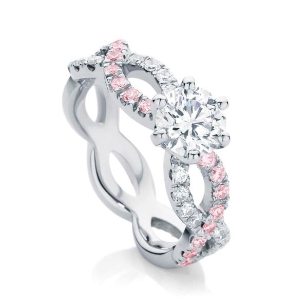 Pink Diamond Engagement Ring Platinum | Entwine IV
