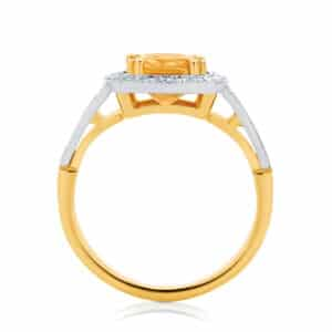 Cushion Halo Engagement Ring Yellow Gold | Evening Light