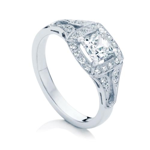 Princess Other Engagement Ring Platinum   Evening Star