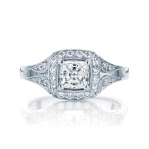 Princess Other Engagement Ring White Gold | Evening Star