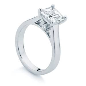 Princess Solitaire Engagement Ring White Gold | Faith