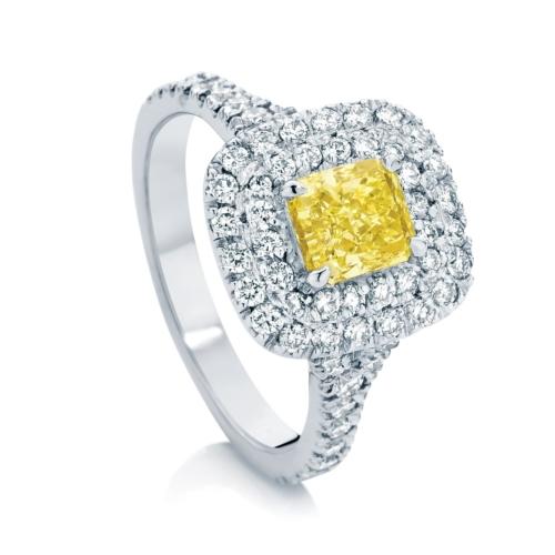 Radiant Halo Engagement Ring Platinum   Halo