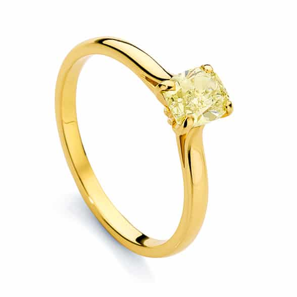 Radiant Solitaire Engagement Ring Yellow Gold | Joy