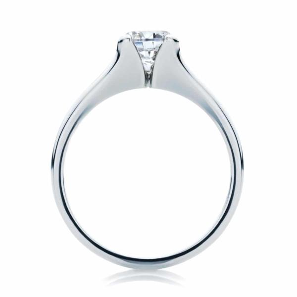Round Solitaire Engagement Ring Platinum | Lotus