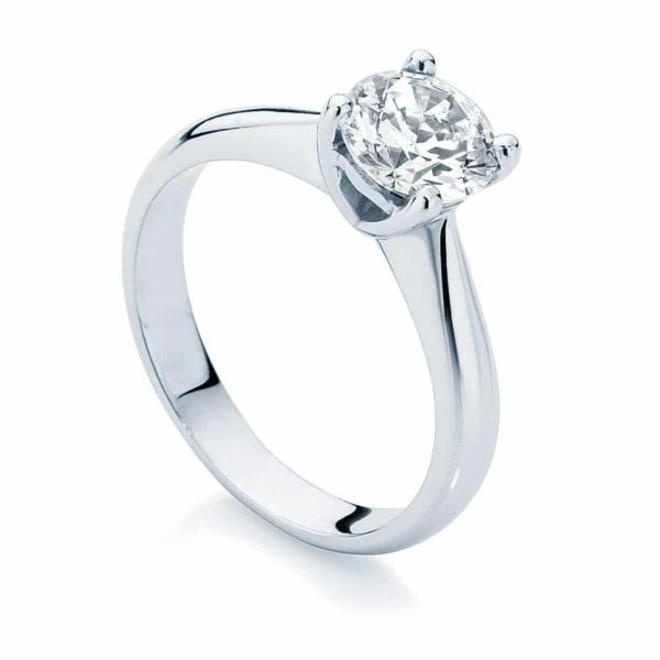 Round Solitaire Engagement Ring Platinum | Luxe