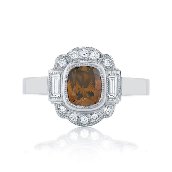 Cushion Halo Engagement Ring Platinum | Messina