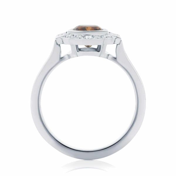 Cushion Halo Engagement Ring White Gold | Messina