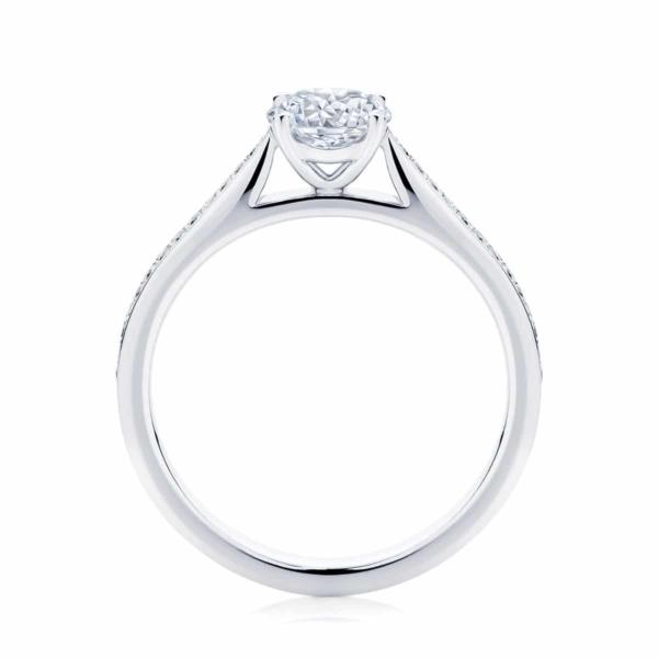Round Side Stones Engagement Ring Platinum | Mirage