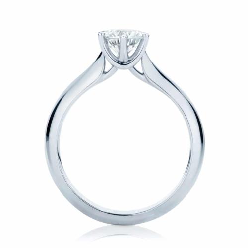 Round Solitaire Engagement Ring Platinum   Modern Brilliant
