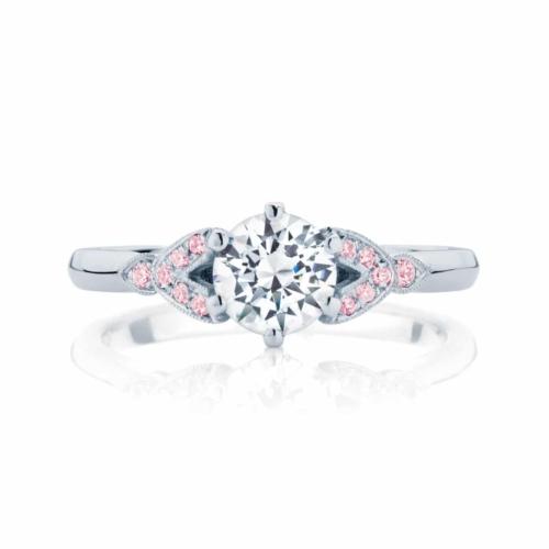 Pink Diamond Engagement Ring Platinum   Morning Star IV