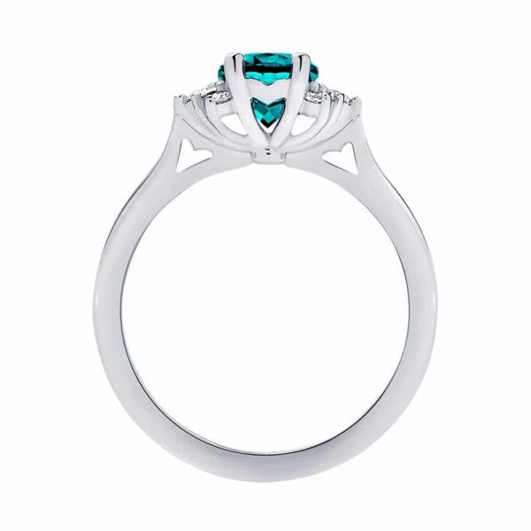 Oval Side Stones Engagement Ring Platinum   Nouvelle Lune