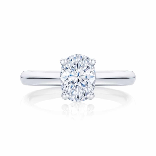Oval Cut Engagement Ring Platinum | Oval Solitaire