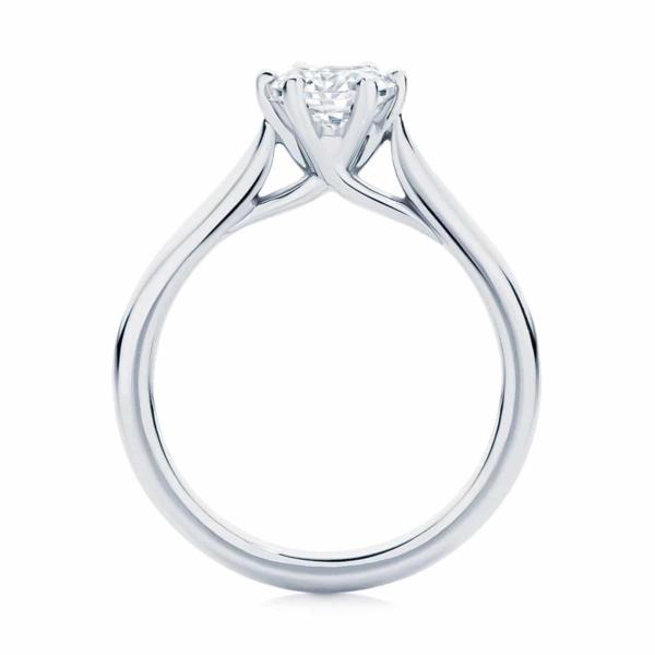 Round Solitaire Engagement Ring Platinum | Pirouette