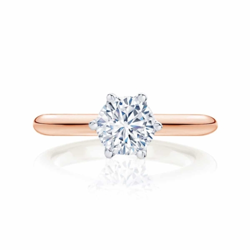 Round Solitaire Engagement Ring Rose Gold | Pirouette