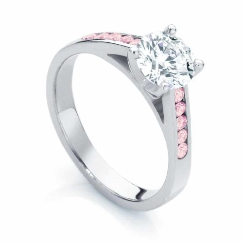 Pink Diamond Engagement Ring Platinum   Poppy IV
