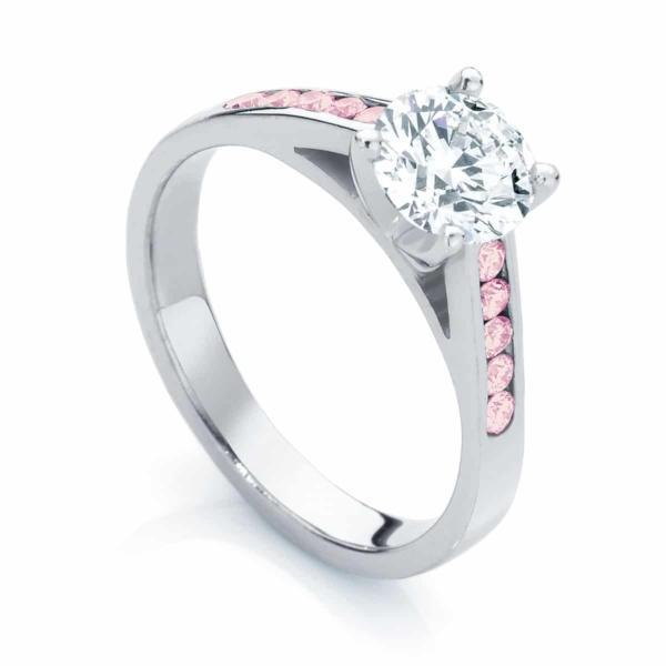 Pink Diamond Engagement Ring White Gold | Poppy IV