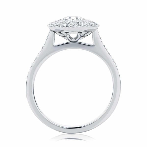 Round Halo Engagement Ring Platinum | Purity