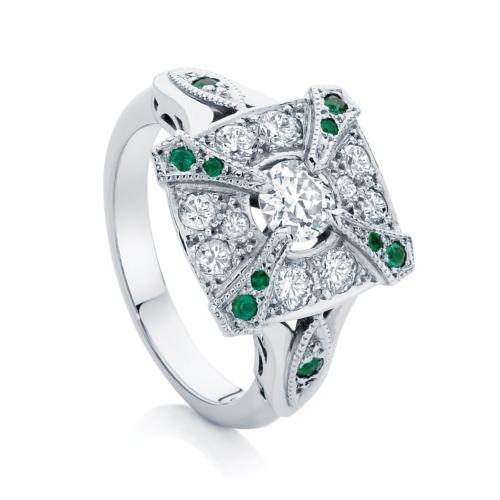 Round Other Engagement Ring Platinum   Renaissance