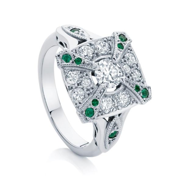 Round Other Engagement Ring Platinum | Renaissance