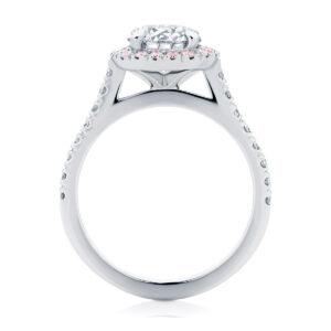 Halo Engagement Ring Platinum | Rosetta (Brilliant) III