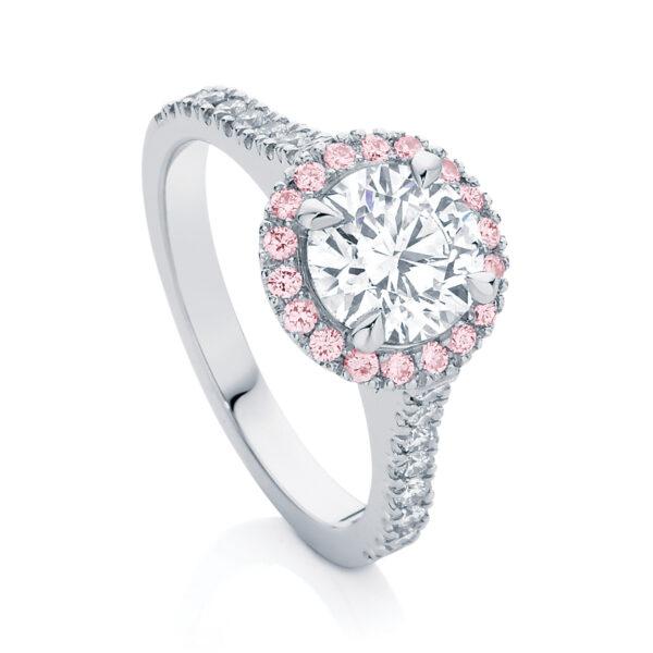 Sapphire Engagement Ring White Gold   Rosetta (Brilliant) III