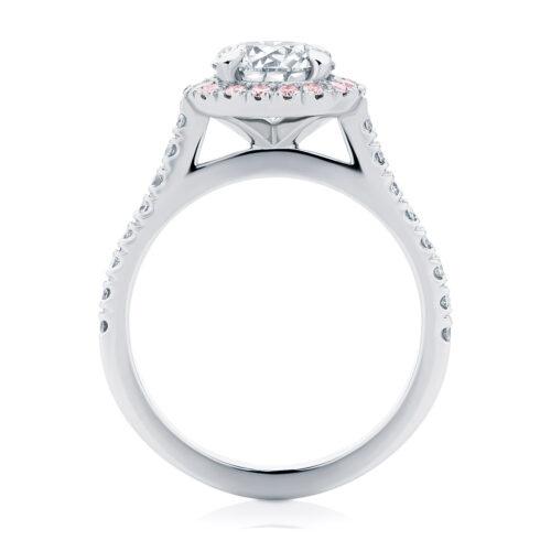 Side Stones Engagement Ring White Gold | Rosetta (Brilliant) IV