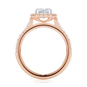 Round Halo Engagement Ring Rose Gold | Rosetta (Brilliant)