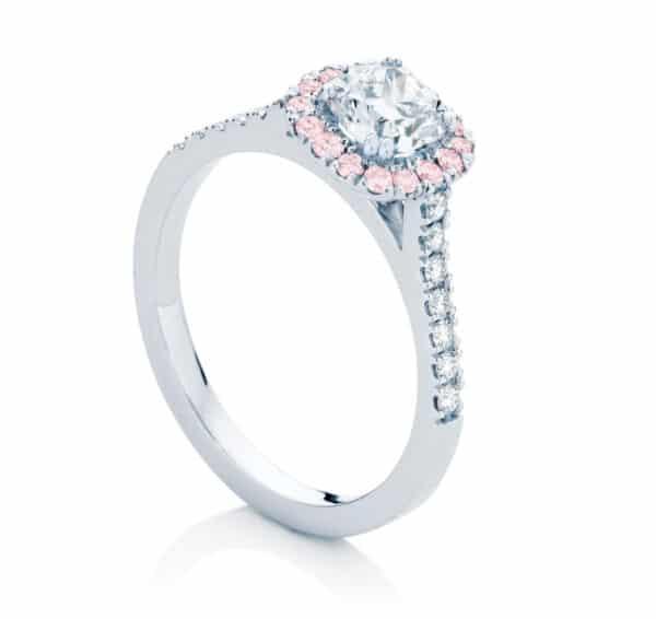 Cushion Cut Engagement Ring Platinum | Rosetta III