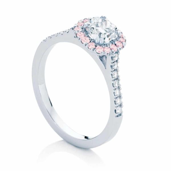 Cushion Cut Engagement Ring Platinum   Rosetta III
