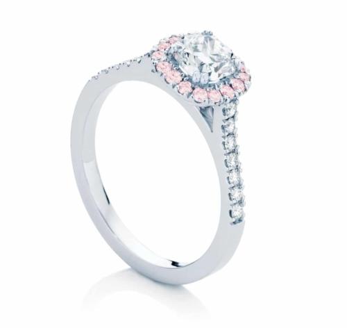 Cushion Cut Engagement Ring Platinum   Rosetta IV