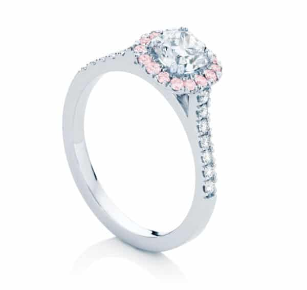 Cushion Cut Engagement Ring Platinum | Rosetta IV