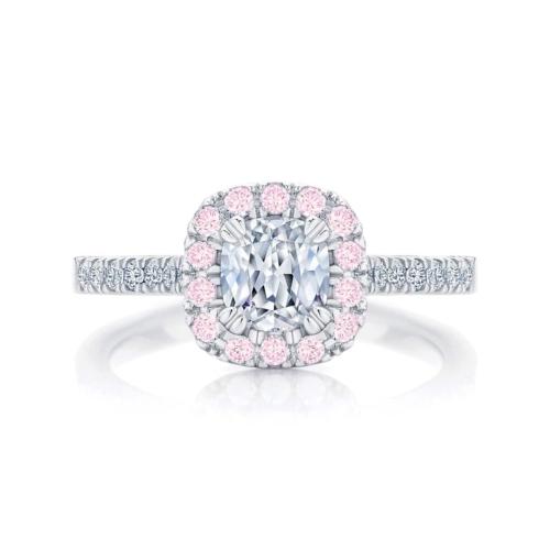 Sapphire Engagement Ring White Gold   Rosetta IV