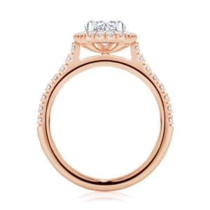 Pear Halo Engagement Ring Rose Gold | Rosetta (Pear)