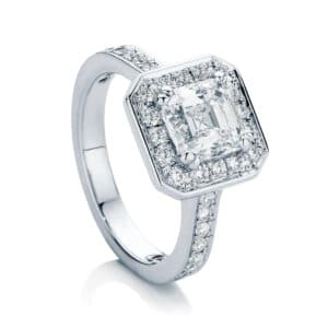 Asscher Halo Engagement Ring White Gold | Serenity (Asscher)