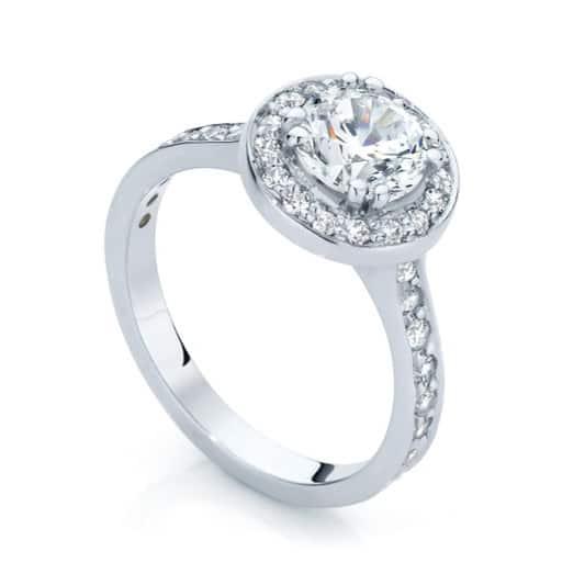 Round Halo Engagement Ring White Gold | Serenity (Brilliant)