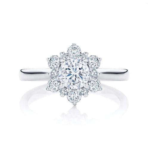 Round Other Engagement Ring Platinum | Snowflake