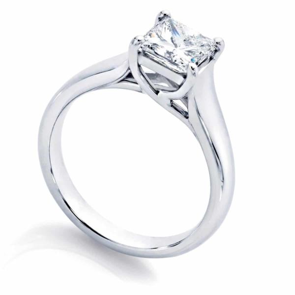 Princess Solitaire Engagement Ring Platinum | Susie