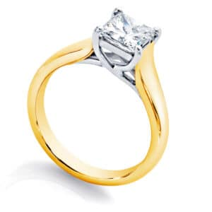 Princess Solitaire Engagement Ring White Gold | Susie