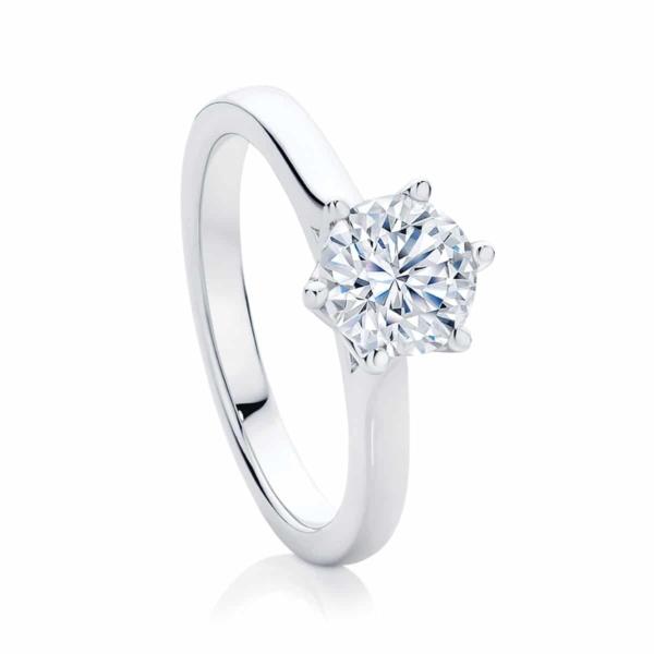 Round Solitaire Engagement Ring Platinum | Tulip
