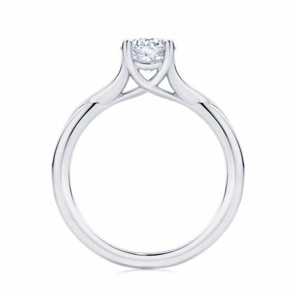 Round Solitaire Engagement Ring Platinum | Twist