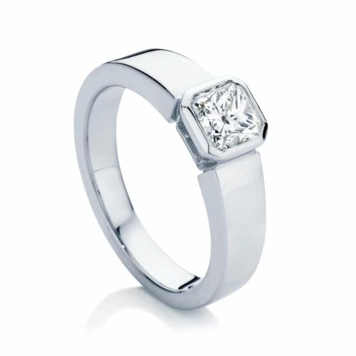 Radiant Solitaire Engagement Ring Platinum   Tzarina