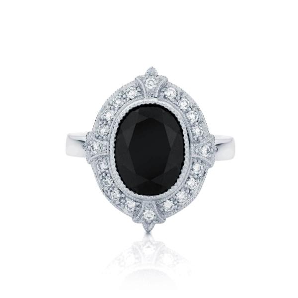 Oval Halo Engagement Ring White Gold | Venezia
