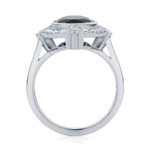 Oval Halo Engagement Ring White Gold | Venezia