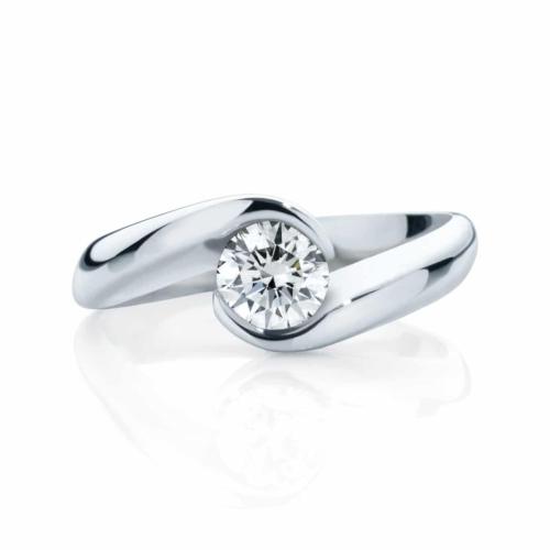Round Solitaire Engagement Ring Platinum   Zephyr (Brilliant)