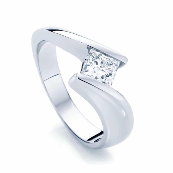 Princess Solitaire Engagement Ring Platinum | Zephyr