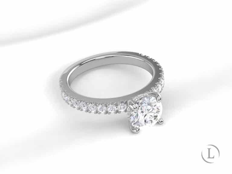 Digital render of engagement ring