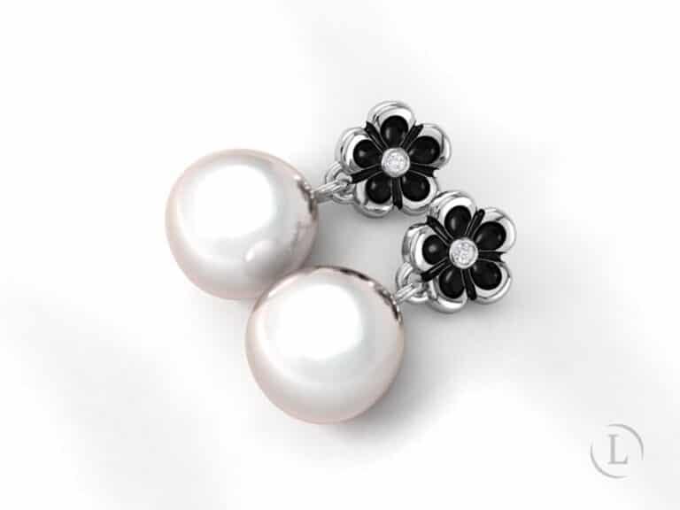 Digital render of custom earrings