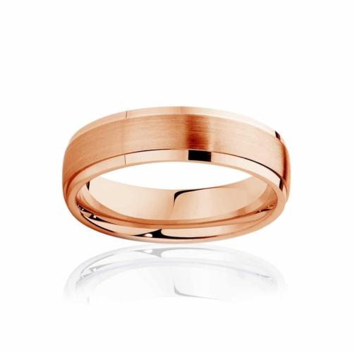 Mens Rose Gold Wedding Ring Alto